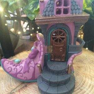 Pink Slipper Boot Fairy House