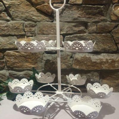 10 Cupcake Stand – Cream Metal