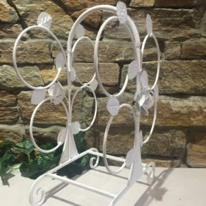 Shabby Chic Wine Rack 4 Bottle