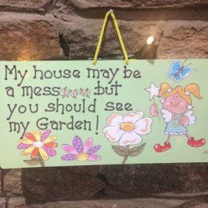 Fairy Messy House Garden Sign