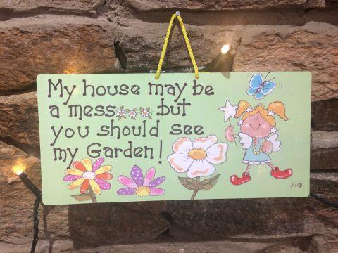 Fairy Messy House Garden Sign