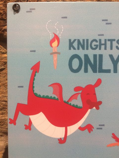 Knights Only Metal Hanger