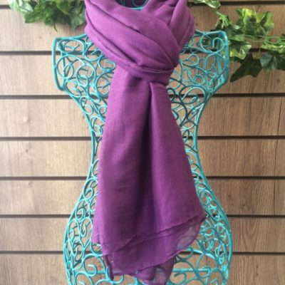 Aubergine Purple Scarf