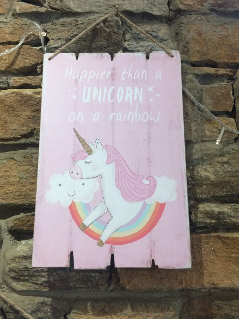 Happier than a Unicorn Sign