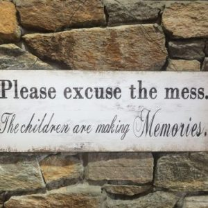 Please Excuse The Mess Metal Sign