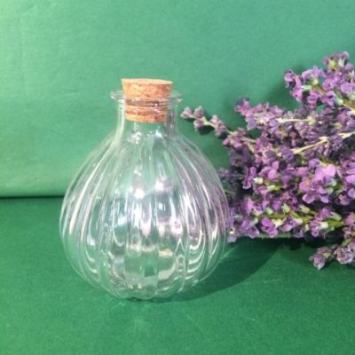 Round Glass Bottle With Cork Stopper