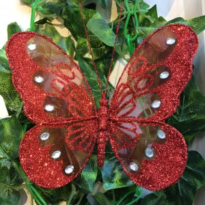 Glitter Butterfly Clip Large