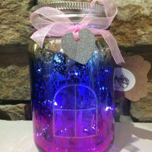 Light Up Fairy Jar Pink