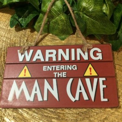 Warning Entering The Man Cave Sign