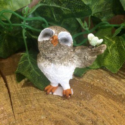 Miniature Owl Ornament Butterfly