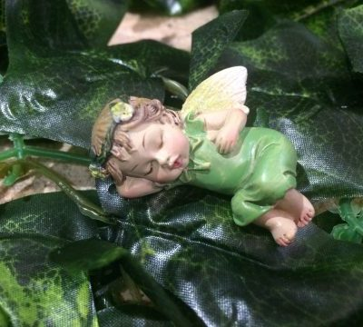 Miniature Sleepy Fairy Baby Green