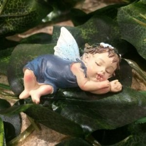 Miniature Sleepy Fairy Baby Blue