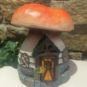 Toadstool Fairy House