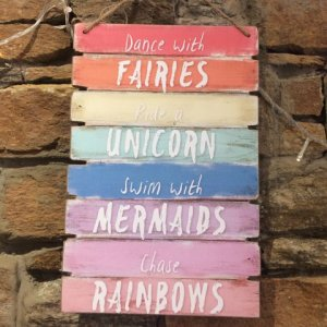 Dance With Fairies Wooden Sign