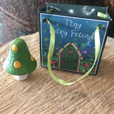 Mini Toadstool In Bag Green