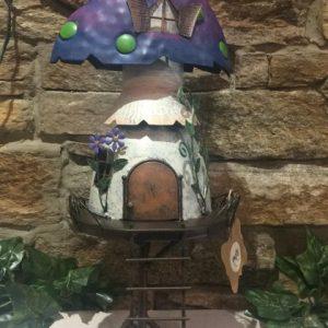 Stilt Metal Mushroom Fairy House