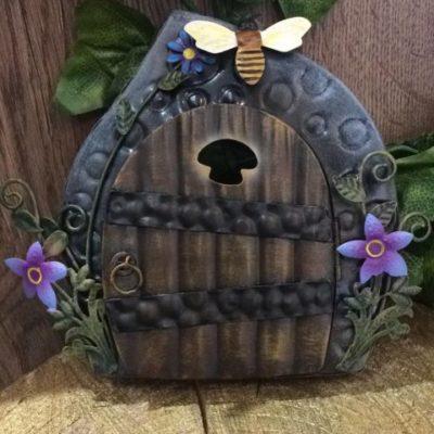 Metal Fairy Door Bumble Bee