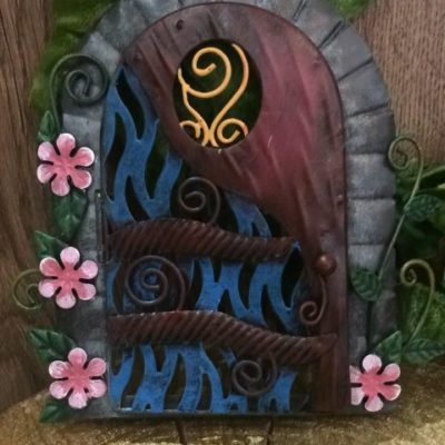 Metal Fairy Door Secret Garden