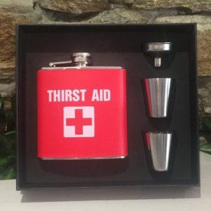 Thirst Aid Hip Flask Gift Set