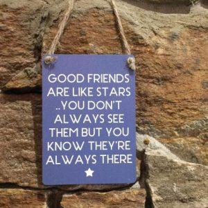 Good Friends Are Like Stars Mini Hanger