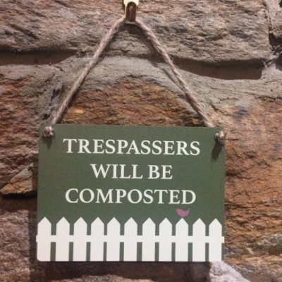 Trespassers Will Be Composted Mini Hanger