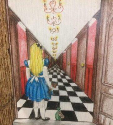 Alice Secret Door Wall Sticker