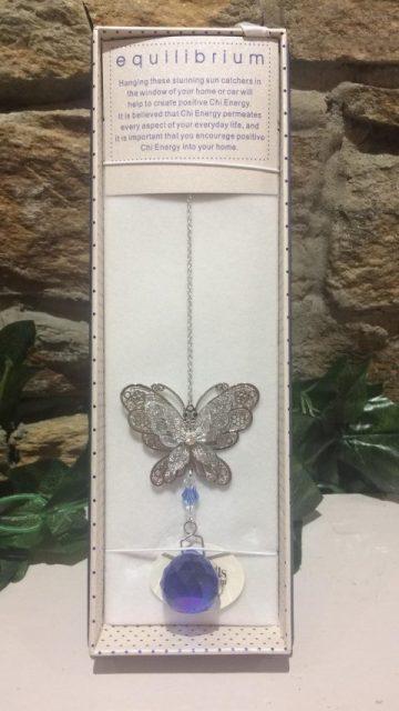 Butterfly Suncatcher 3D Blue