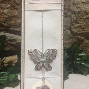 Butterfly Suncatcher 3D Pink