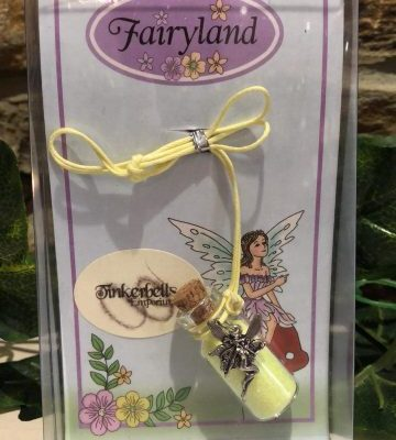 Fairy Dust Necklace with Charm - Yellow