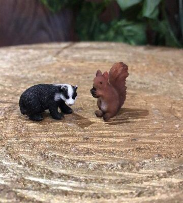 Miniature Badger and Squirrel Set