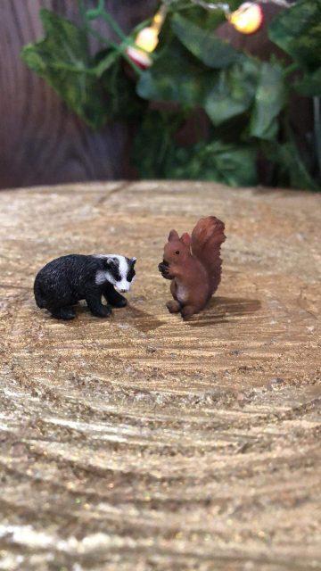 Miniature Badger and Squirrel Set