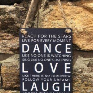 Dance Love Laugh Mini Hanger