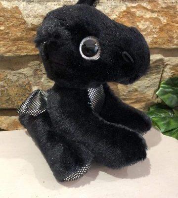 Sparkle Tales Rogue Black Dragon Plush