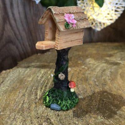 Miniature Resin Bird House