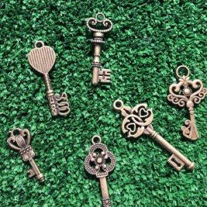 Miniature Brass Fairy Door Key