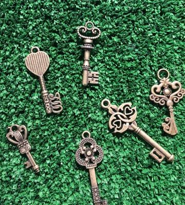Miniature Brass Fairy Door Key