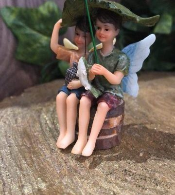 Little Fishing Fairy Boys Figurine