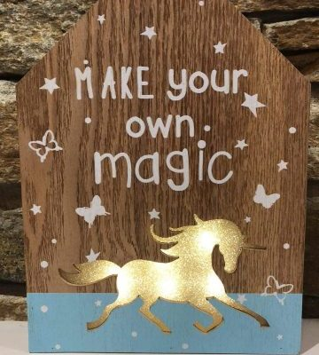 Make Your Own Magic Light Up Unicorn Plaque