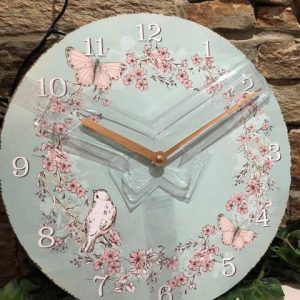 Romance Turquoise Wall Clock