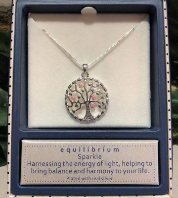 Tree of Life Sparkle Silver Plated Necklace