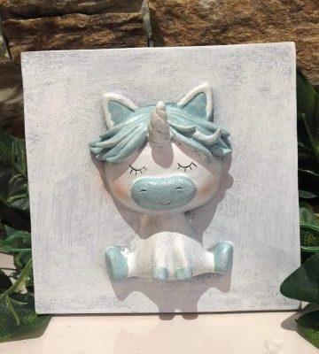 Pastel Unicorn Ceramic Wall Plaque