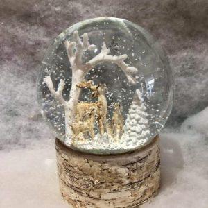Deer Scene Snow Globe Large