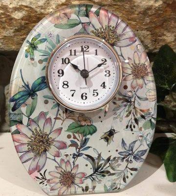 Floral Blush Clock Garden