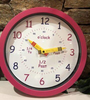 Time Teacher Clock Pink