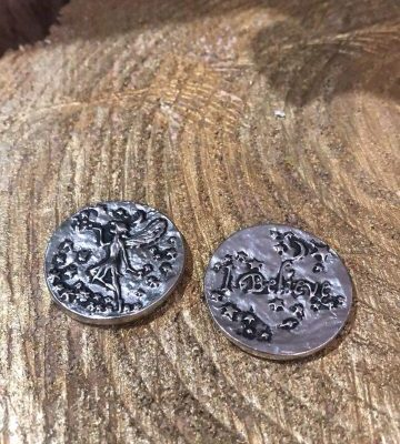 Fairy Wishing Coin I Believe Silver Highlight