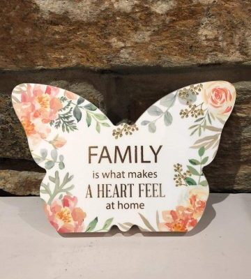 Butterfly Plaque Floral - Family