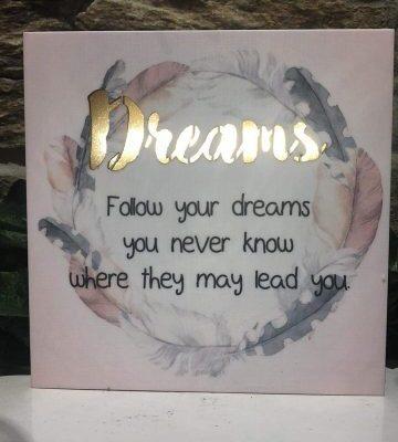 Dreams LED Plaque