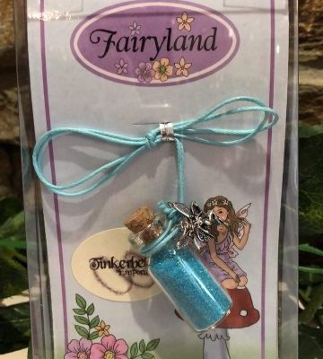 Fairy Dust Necklace with Charm - Blue