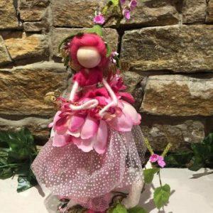 Pretty Pink Handmade Fairy Doll Large