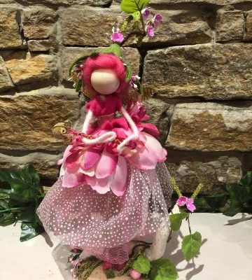 Pretty Pink Handmade Fairy Doll Large